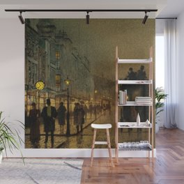 Classical Masterpiece 'Glasgow, Twilight' by John Atkinson Grimshaw Wall Mural