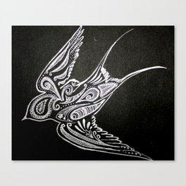 Tribal Bird Canvas Print