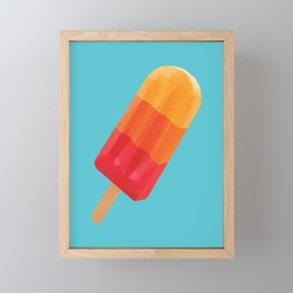 Ice Block Polygon Art Framed Mini Art Print