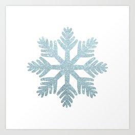 Blue Glitter Snowflake Kunstdrucke