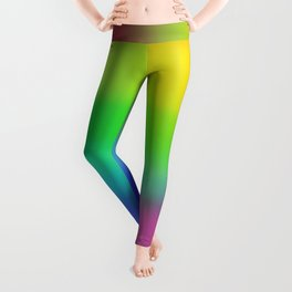Bright Rainbow Gradient Design! Leggings