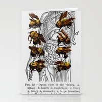 bees Stationery Cards featuring bees by Ashley Moye