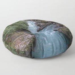 Alaska River Canyon - I Floor Pillow