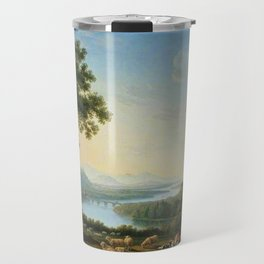 The River Volturno in the Italian Apennines by Jakob Philipp Hackert Travel Mug