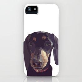 Geometric Sausage Dog Digitally Created iPhone Case