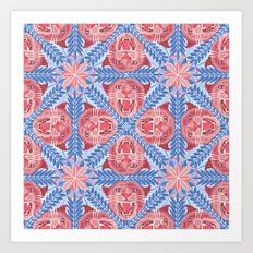 Pink Panther Pattern Art Print