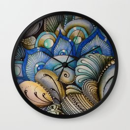 Majestic Coral Wall Clock