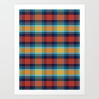 plaid Art Prints featuring Plaid by Sierra Neale