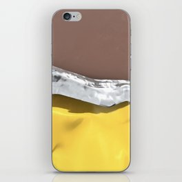Chocolate candy bar in gold wrapper iPhone Skin