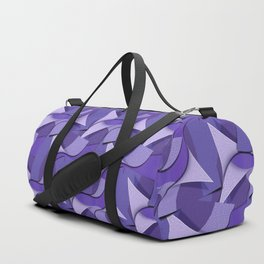 Ultra Violet Abstract Waves Duffle Bag