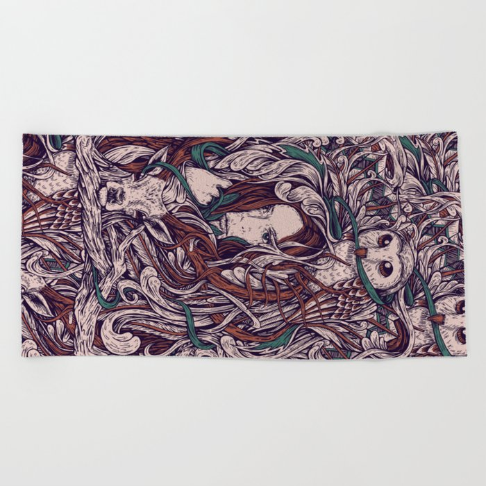 Girl and friends Beach Towel