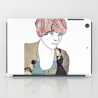 introvert iPad Cases featuring introvert girl by Katharina Nachher