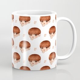 BTS Jin Cute Chibi Pattern Coffee Mug