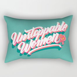 Unstoppable Women Rectangular Pillow