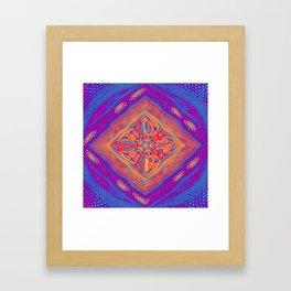 Colourful Weave Framed Art Print