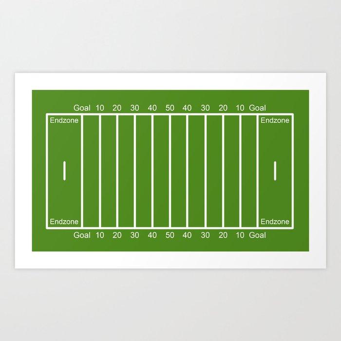 Football Field Design Art Print By Efratul Society6