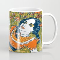dorothy Mugs featuring Dorothy in the Poppy Field by Julia Minamata