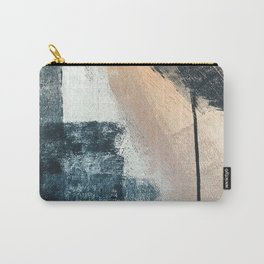 Just like Honey [3]: a pretty, minimal abstract mixed-media piece in blue, gold, and pink Carry-All Pouch