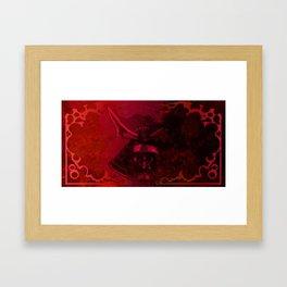 Kabuto with Mempo Framed Art Print