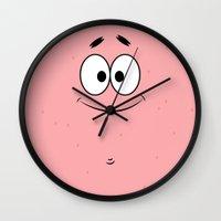 patrick Wall Clocks featuring Patrick by JayPii