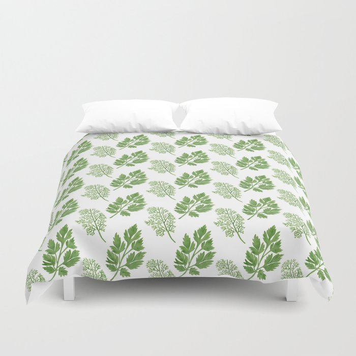 Dill and Parsley Duvet Cover