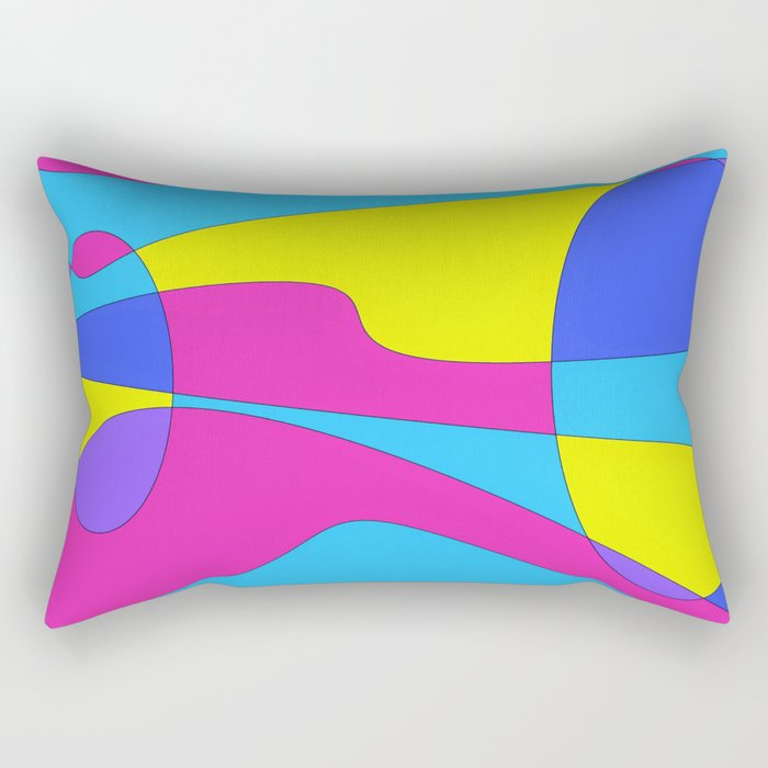 Colors in Sound Neon Rectangular Pillow
