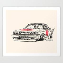 Crazy Car Art 0176 Art Print