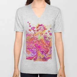 Bliss acrylic  painting by Amanda Martinson Unisex V-Neck