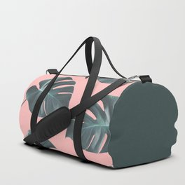 Oversized Palm In Pink Duffle Bag