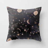 whimsical Throw Pillows featuring Constellations  by Nikkistrange