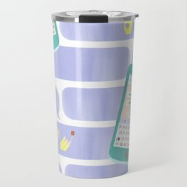 Paper Cut Texting Travel Mug