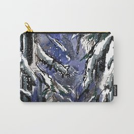 Dark winter forest Carry-All Pouch