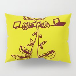 tree with a computer , telephone and other device . https://society6.com/vickonskey/s?q=popular+prin Pillow Sham