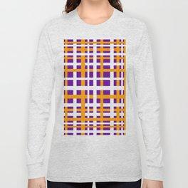 Purple & Orange Interlocking Stripes Long Sleeve T-shirt