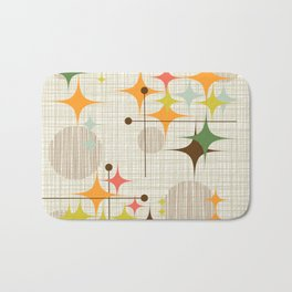 Mid Century Modern Starbursts and Globes 3a Bath Mat