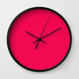 Pink- red . Wall Clock