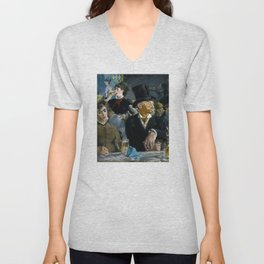 Édouard Manet - The Café-Concert Unisex V-Neck