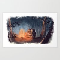 Forest Book Club Art Print