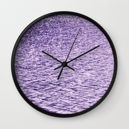 Ultra Violet Glittering Wavy Pattern | Trendy Color of year 2018 Wall Clock