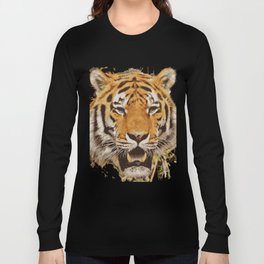 tiger face vektor Long Sleeve T-shirt