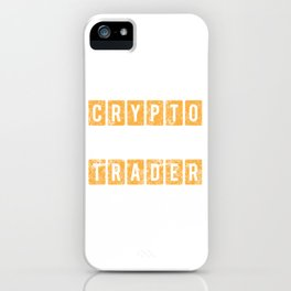 Crypto Trader Bitcoin Blockchain Distressed iPhone Case