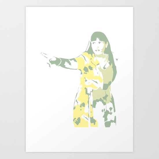 Lady Pointing Out Art Print
