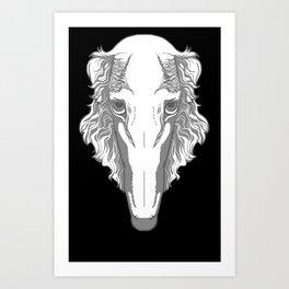 Borzoi Team Snooter Art Print