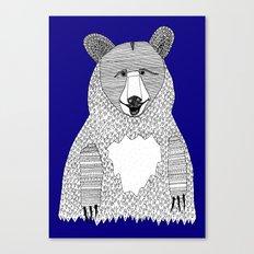 Blue Bear Canvas Print