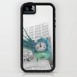 The Blue Chicago Clock iPhone Case
