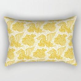 Pegasus Pattern Mustard Yellow Rectangular Pillow