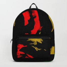 Lion's roar (Red, Gold & Green) Backpack