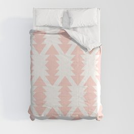 Southwest Criss Cross Pattern in Pink and White Comforters