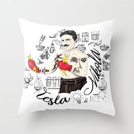 Electric Fist Throw Pillow