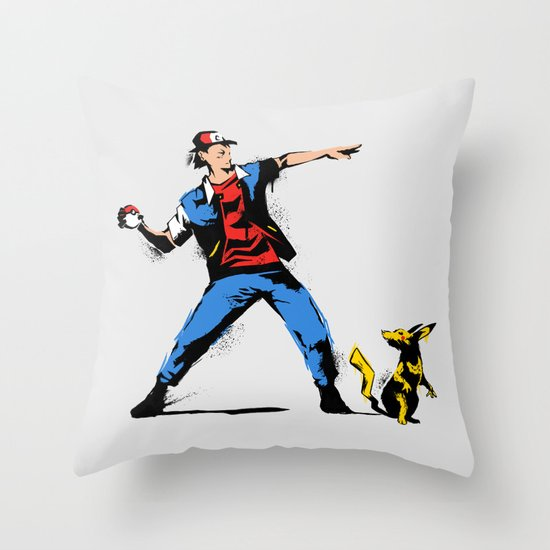 Gotta Catch em all  Throw Pillow